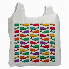 Fish Whale Cute Animals Recycle Bag (one Side) by Alisyart