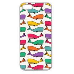 Fish Whale Cute Animals Apple Seamless Iphone 5 Case (clear) by Alisyart