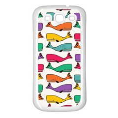 Fish Whale Cute Animals Samsung Galaxy S3 Back Case (white) by Alisyart
