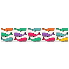 Fish Whale Cute Animals Small Flano Scarf