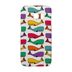 Fish Whale Cute Animals Samsung Galaxy S6 Edge Hardshell Case by Alisyart