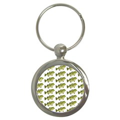 Green Small Fish Water Key Chains (round)