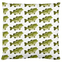 Green Small Fish Water Large Cushion Case (two Sides)