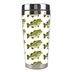 Green Small Fish Water Stainless Steel Travel Tumblers by Alisyart