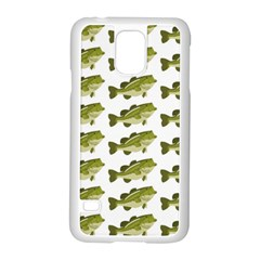 Green Small Fish Water Samsung Galaxy S5 Case (white)