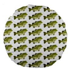 Green Small Fish Water Large 18  Premium Flano Round Cushions