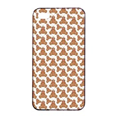 Babby Gingerbread Apple Iphone 4/4s Seamless Case (black)