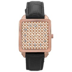 Babby Gingerbread Rose Gold Leather Watch