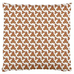 Babby Gingerbread Large Flano Cushion Case (two Sides)