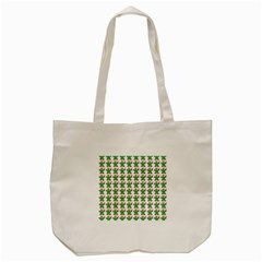 Gingerbread Men Seamless Green Background Tote Bag (cream)