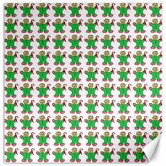 Gingerbread Men Seamless Green Background Canvas 12  X 12