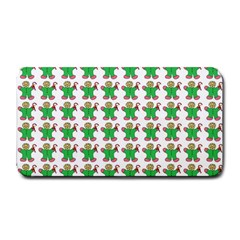 Gingerbread Men Seamless Green Background Medium Bar Mats by Alisyart