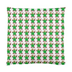Gingerbread Men Seamless Green Background Standard Cushion Case (two Sides)