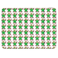 Gingerbread Men Seamless Green Background Samsung Galaxy Tab 7  P1000 Flip Case
