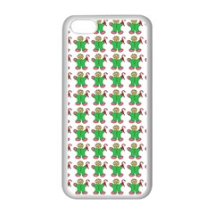 Gingerbread Men Seamless Green Background Apple Iphone 5c Seamless Case (white) by Alisyart