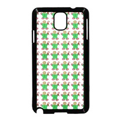 Gingerbread Men Seamless Green Background Samsung Galaxy Note 3 Neo Hardshell Case (black)