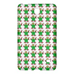 Gingerbread Men Seamless Green Background Samsung Galaxy Tab 4 (8 ) Hardshell Case  by Alisyart