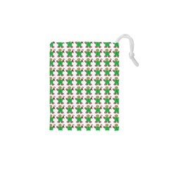 Gingerbread Men Seamless Green Background Drawstring Pouch (xs)