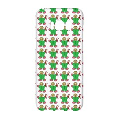 Gingerbread Men Seamless Green Background Samsung Galaxy S8 Hardshell Case  by Alisyart