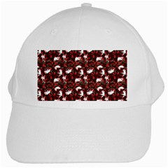 Cartoon Mouse Christmas Pattern White Cap