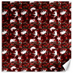 Cartoon Mouse Christmas Pattern Canvas 20  X 20
