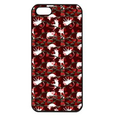 Cartoon Mouse Christmas Pattern Apple Iphone 5 Seamless Case (black)