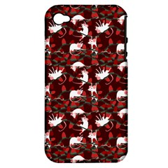 Cartoon Mouse Christmas Pattern Apple Iphone 4/4s Hardshell Case (pc+silicone)