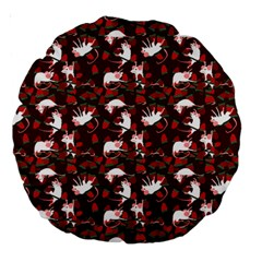 Cartoon Mouse Christmas Pattern Large 18  Premium Round Cushions by Alisyart