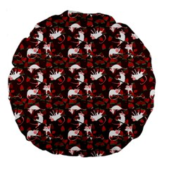 Cartoon Mouse Christmas Pattern Large 18  Premium Flano Round Cushions by Alisyart