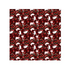 Cartoon Mouse Christmas Pattern Small Satin Scarf (square)