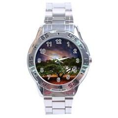 Lone Tree Fantasy Space Sky Moon Stainless Steel Analogue Watch by Alisyart