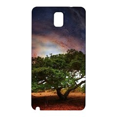 Lone Tree Fantasy Space Sky Moon Samsung Galaxy Note 3 N9005 Hardshell Back Case