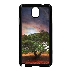 Lone Tree Fantasy Space Sky Moon Samsung Galaxy Note 3 Neo Hardshell Case (black)