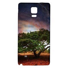 Lone Tree Fantasy Space Sky Moon Samsung Note 4 Hardshell Back Case