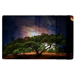Lone Tree Fantasy Space Sky Moon Apple Ipad Pro 12 9   Flip Case by Alisyart