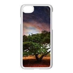Lone Tree Fantasy Space Sky Moon Apple Iphone 8 Seamless Case (white) by Alisyart