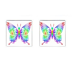 Rainbow Butterfly Cufflinks (square) by amazinganimals