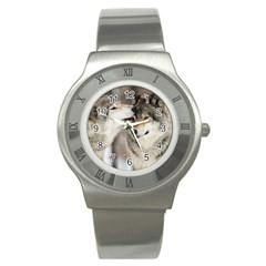 Lovable Wolves Stainless Steel Watch