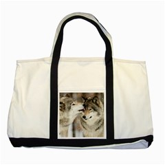 Lovable Wolves Two Tone Tote Bag