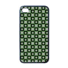 Soccer Ball Pattern Apple Iphone 4 Case (black) by dflcprints