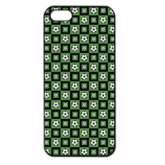 Soccer Ball Pattern Apple Iphone 5 Seamless Case (black) by dflcprints