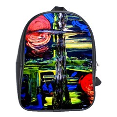 Between Two Moons 1 School Bag (large) by bestdesignintheworld