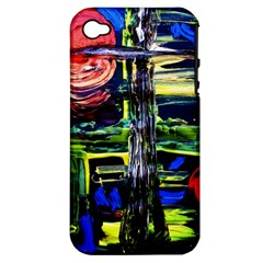 Between Two Moons 1 Apple Iphone 4/4s Hardshell Case (pc+silicone)