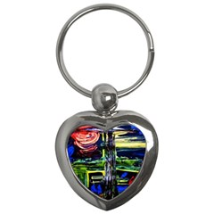 Between Two Moons 1 Key Chains (heart)