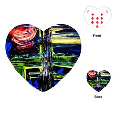 Between Two Moons 1 Playing Cards (heart) by bestdesignintheworld