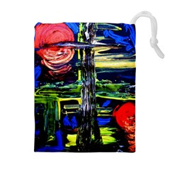 Between Two Moons 1 Drawstring Pouch (xl) by bestdesignintheworld