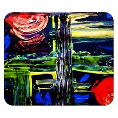 Between Two Moons 1 Double Sided Flano Blanket (small)
