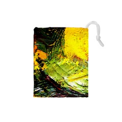 Yellow Chik 5 Drawstring Pouch (small)