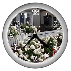 Easter 8 Wall Clock (silver)