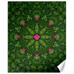 The Most Sacred Lotus Pond  With Bloom    Mandala Canvas 16  X 20  by pepitasart